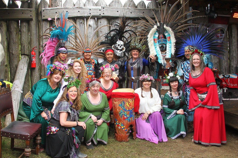 With the Amazing Aztecs at the Spirit of Duncarron 2019